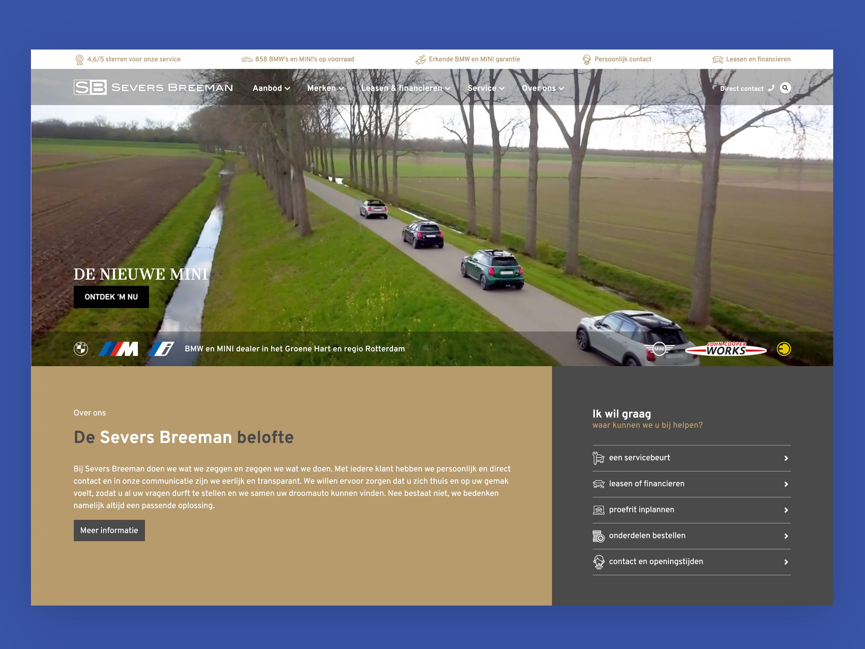 Severs Breeman Website